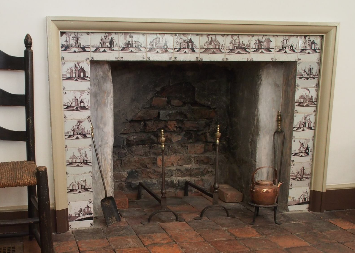 Colonial Fireplace in the Corbit-Sharp House