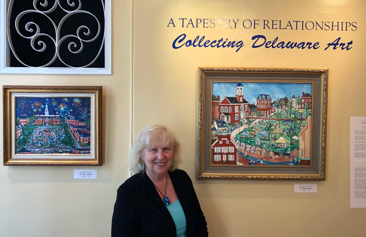 N. Taylor Collins with Delaware art collection