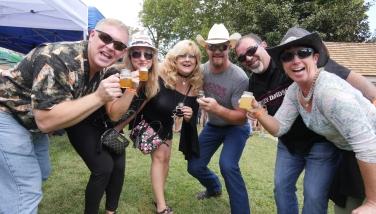 Odessa Brewfest participant toast