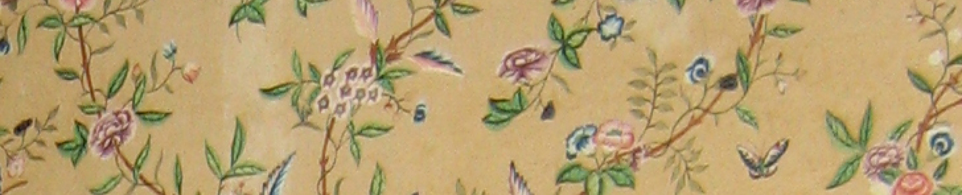 kind of unique export product, 18th century wallpaper