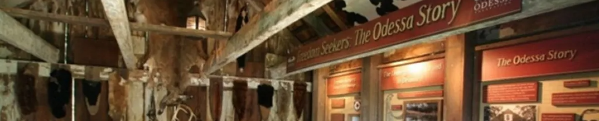 """National Park Service Network to Freedom exhibit, """"Freedom Seekers: the Odessa Story"""""""