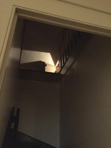 Sam was hidden behind a tiny door in the attic