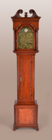 full front view of clock