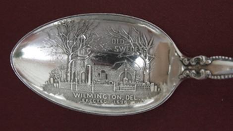 Mary Cowgill Corbit Warner's Souvenir spoon