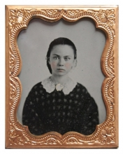 Ambrotype photograph of Mary Cowgill Corbit Warner