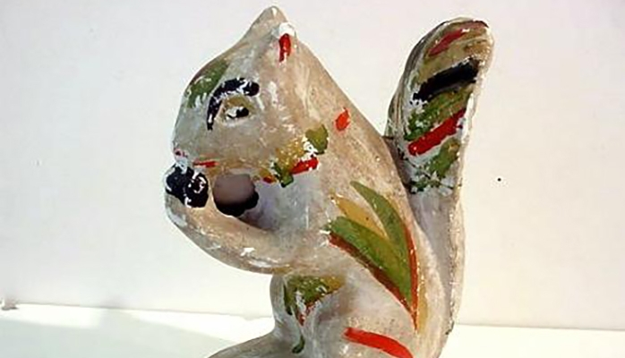 painted squirrel figurine