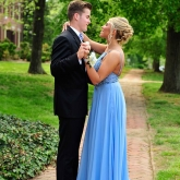 prom picture taken on main street in Odessa
