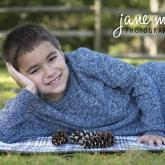 Josh with Pinecones