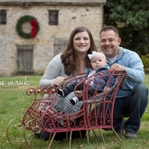 Christmas baby portrait in small sled