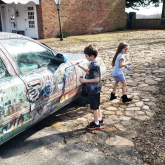 kids paint Ohlerking's car