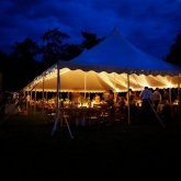 Historic Odessa wedding outdoor reception