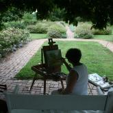 Plein Air Garden Painting