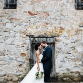 Married in the Corbit-Sharp House Colonial Revival garden